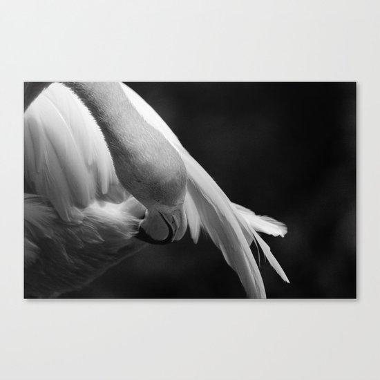 Pink Flamingo ballet dancer Canvas Print