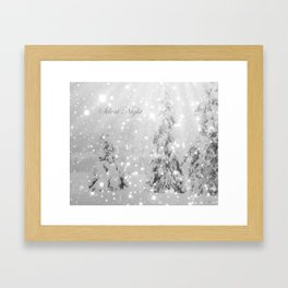 Silent Night - B & W Framed Art Print