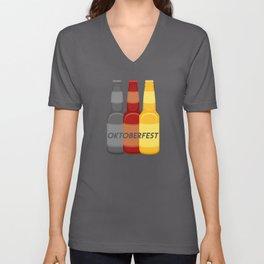 Beer Oktoberfest German Flag design for Men or Women Unisex V-Neck