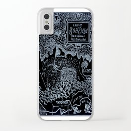 Map of Bohemia (black & white) Clear iPhone Case