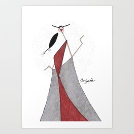 LOUNGING IS BLISS Art Print