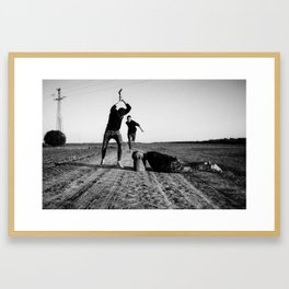 The Victim, The Rescuer and The Prosecutor Framed Art Print