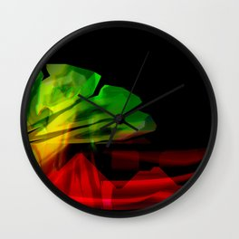 Abstract colour wave aesthetic Wall Clock