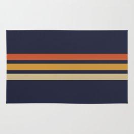 Vintage Retro Stripes Rug