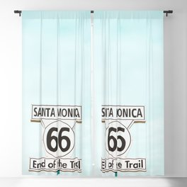 Travel photography Santa Monica XV 66 End of the Trail Blackout Curtain