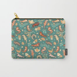 Autumn Geckos in green Carry-All Pouch