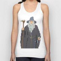 gandalf Tank Tops featuring Gandalf Grey-bit by SamuelJay