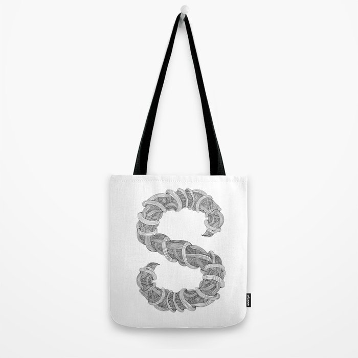 S letter from Albanica Type Tote Bag