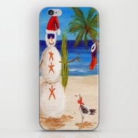 sandman iPhone & iPod Skins featuring Christmas Sandman by Vivid Perceptions