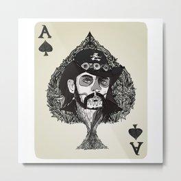 Lemmy Ace of Spades Metal Print
