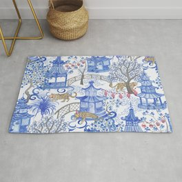 Party Leopards in the Pagoda Forest Rug