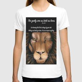 Lion - Proverbs 28, 1 T-shirt