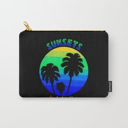 Sunsets & Chill (Neon) Carry-All Pouch