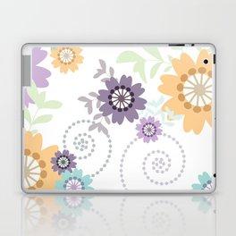 Flowers and Swirls Laptop & iPad Skin