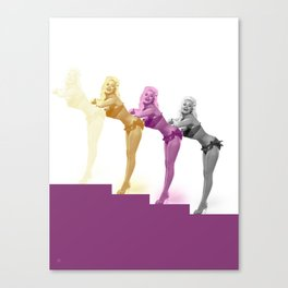 Pin-up up the steps Canvas Print