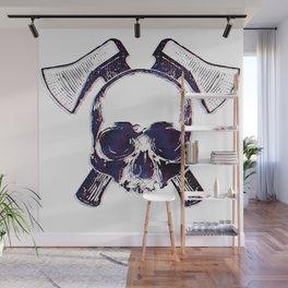 Axe Skull Wall Mural