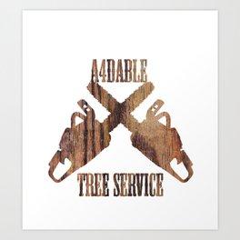 tree serevis  Art Print