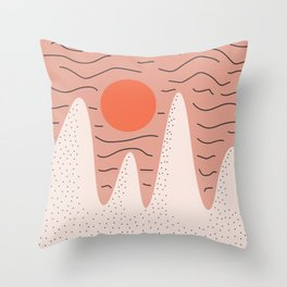 Desert Hills at Sunset 1 Throw Pillow