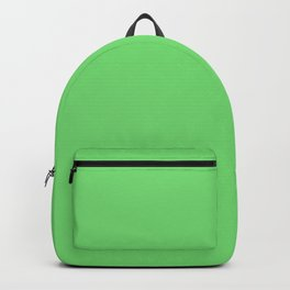 Soft Chalky Pastel Green Solid Color Backpack