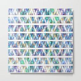 Geometric Glossy Pattern G331 Metal Print