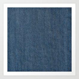 Blue Denim Texture Art Print