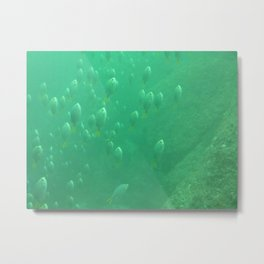 rise from the green abyss Metal Print