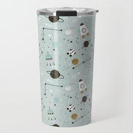 Space ships Animals Prints patterns Travel Mug
