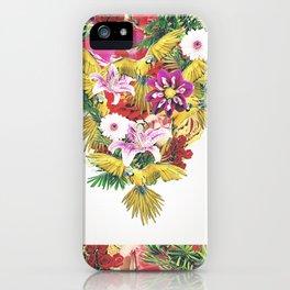 Parrot Floral iPhone Case