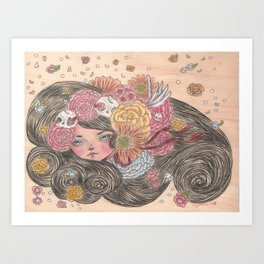 the spring breeze Art Print