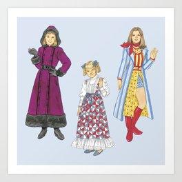 1970's Sisters Art Print