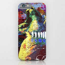 Lion yawn iPhone Case