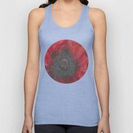 Heart of the Poppy by Candy Medusa Unisex Tank Top