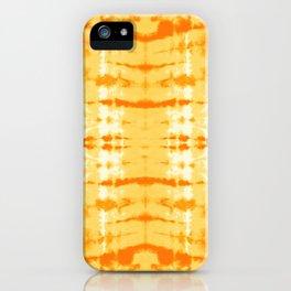 Satin Shibori Yellow iPhone Case