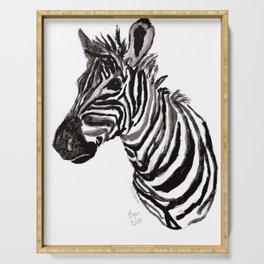 Watercolor Zebra Serving Tray