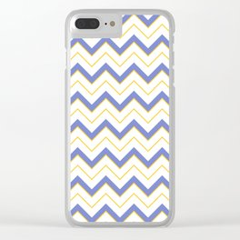 Chevron   Blue, Yellow  White Clear iPhone Case