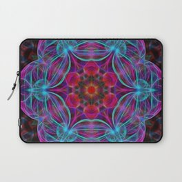 Vibrant wheel of fortune mandala Laptop Sleeve