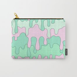 DRIPPY ((seafoam green, pink)) Carry-All Pouch