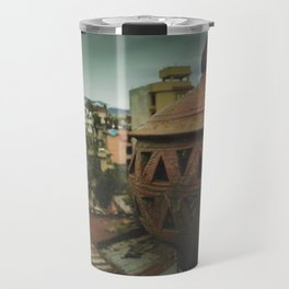 Kathmandu City Roof Tops - Architecture 04 Travel Mug