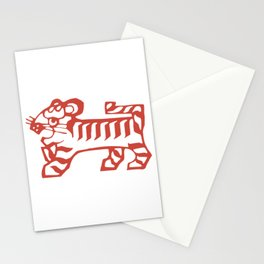Tiger Zodiac Paper Cutting Funny Nursery Cartoon Drawing Design Stationery Cards