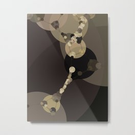 tara - dark abstract of tan chestnut brown taupe yellow beige Metal Print