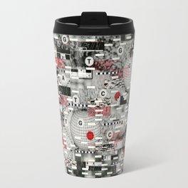 The Flaw Advantage (P/D3 Glitch Collage Studies) Travel Mug