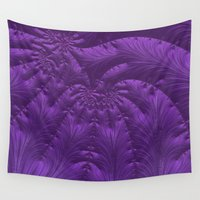 renaissance Wall Tapestries featuring Renaissance Purple by Charma Rose