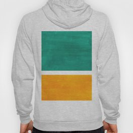 Colorful Bright Minimalist Rothko Minimalist Midcentury Art Marine Green Gold Vintage Pop Art Hoody