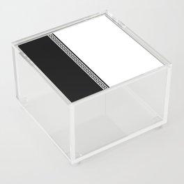 Greek Key 2 - White and Black Acrylic Box