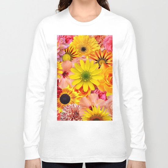 ORANGE FLOWERS Long Sleeve T-shirt