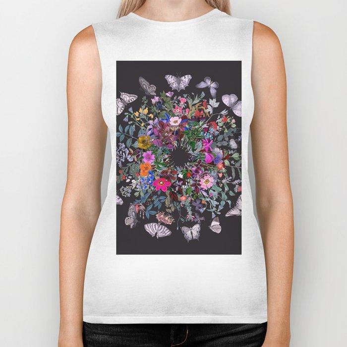 Butterfly Garden Biker Tank