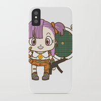 dragonball iPhone & iPod Cases featuring Bulma and the dragonball radar by Samtronika