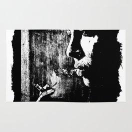 SMOKE - black version Rug
