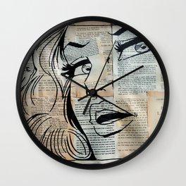 French Woman Comics Wall Clock