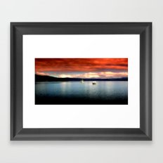Karma on the Lake Framed Art Print